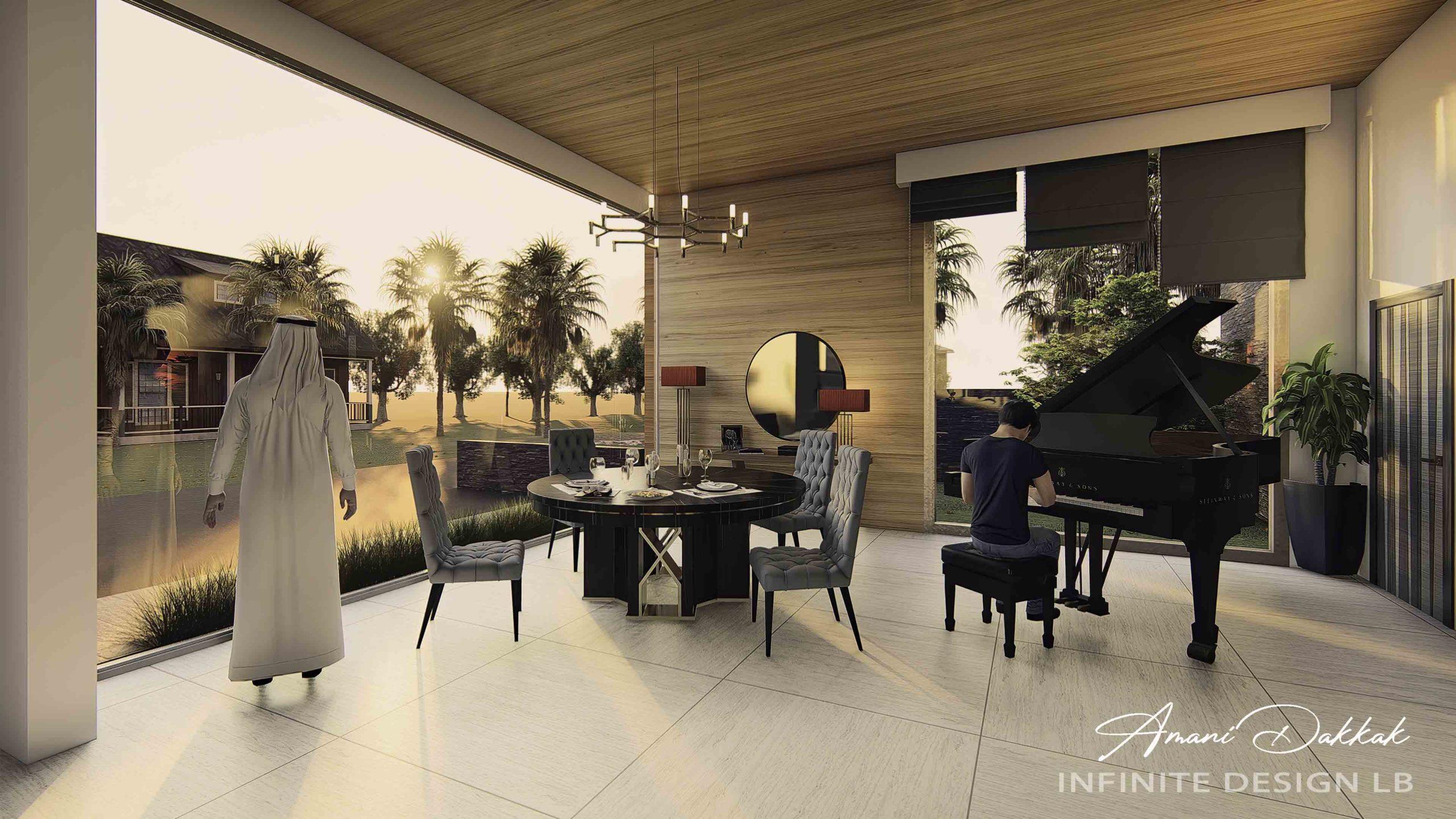 Luxury Modern Salon Decoration | By Amani Dakkak