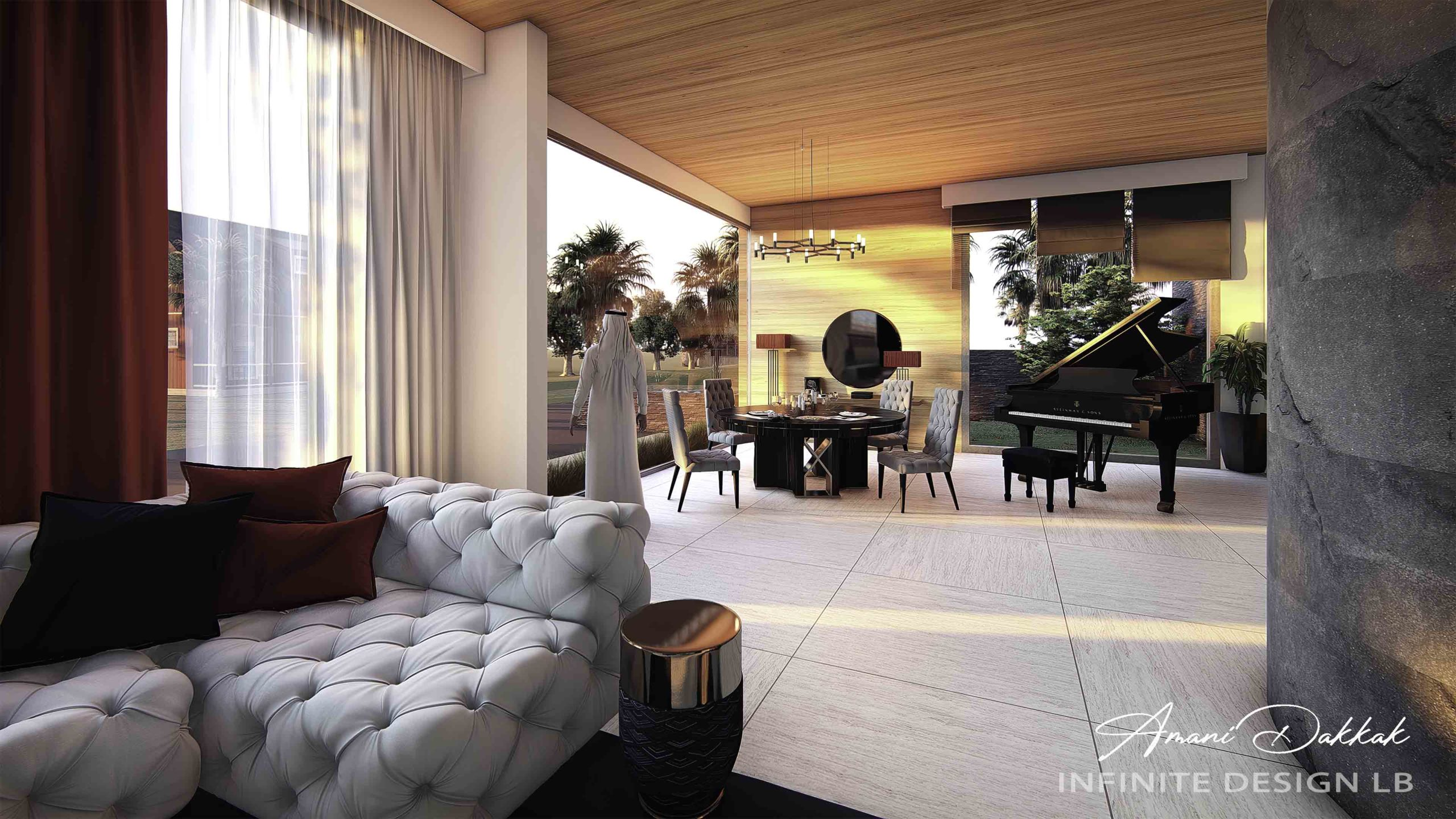 Luxury Modern Living Room Decoration | By Amani Dakkak