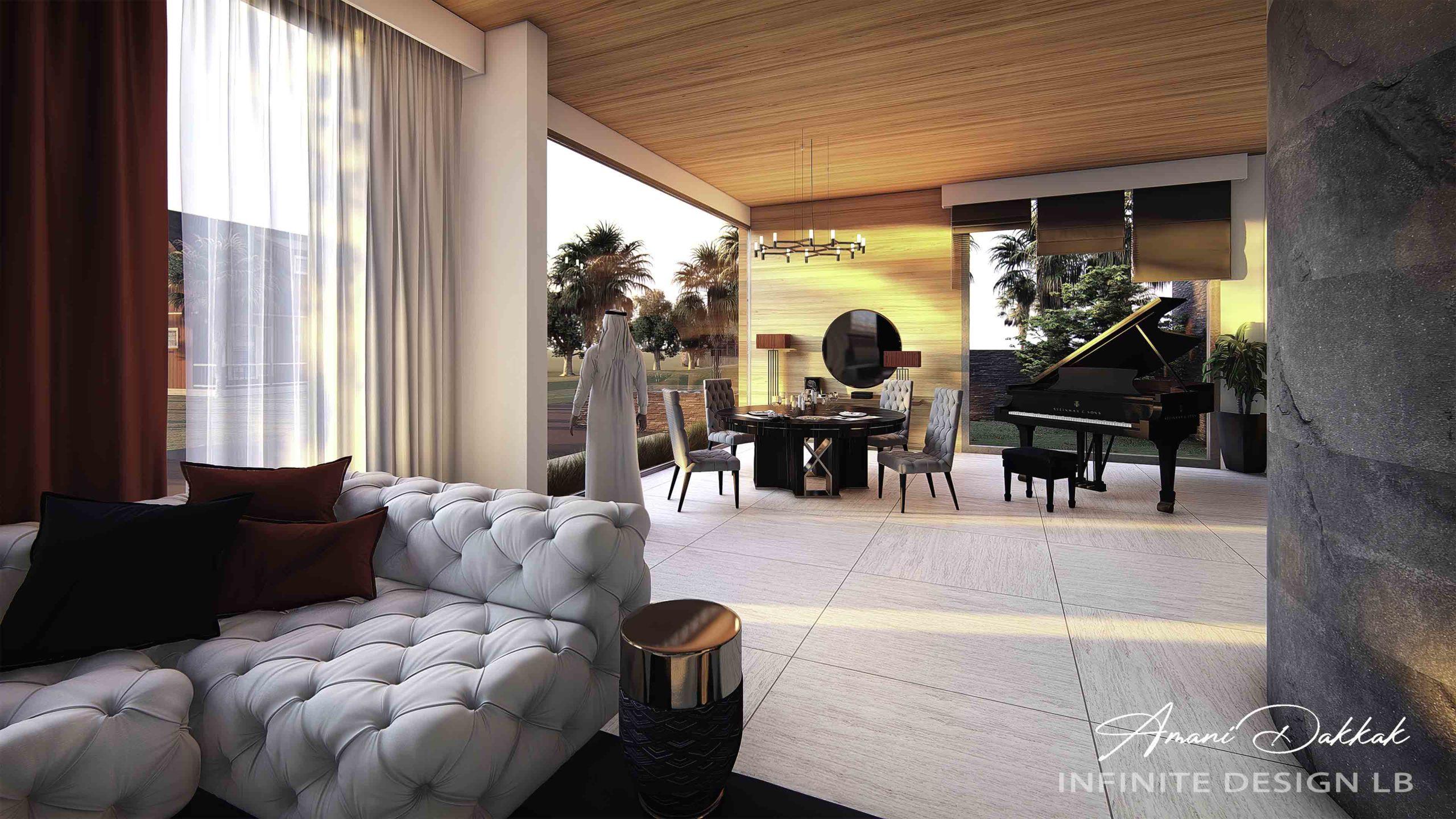 Luxury Modern Living Room Decoration | By Amani Dakkak