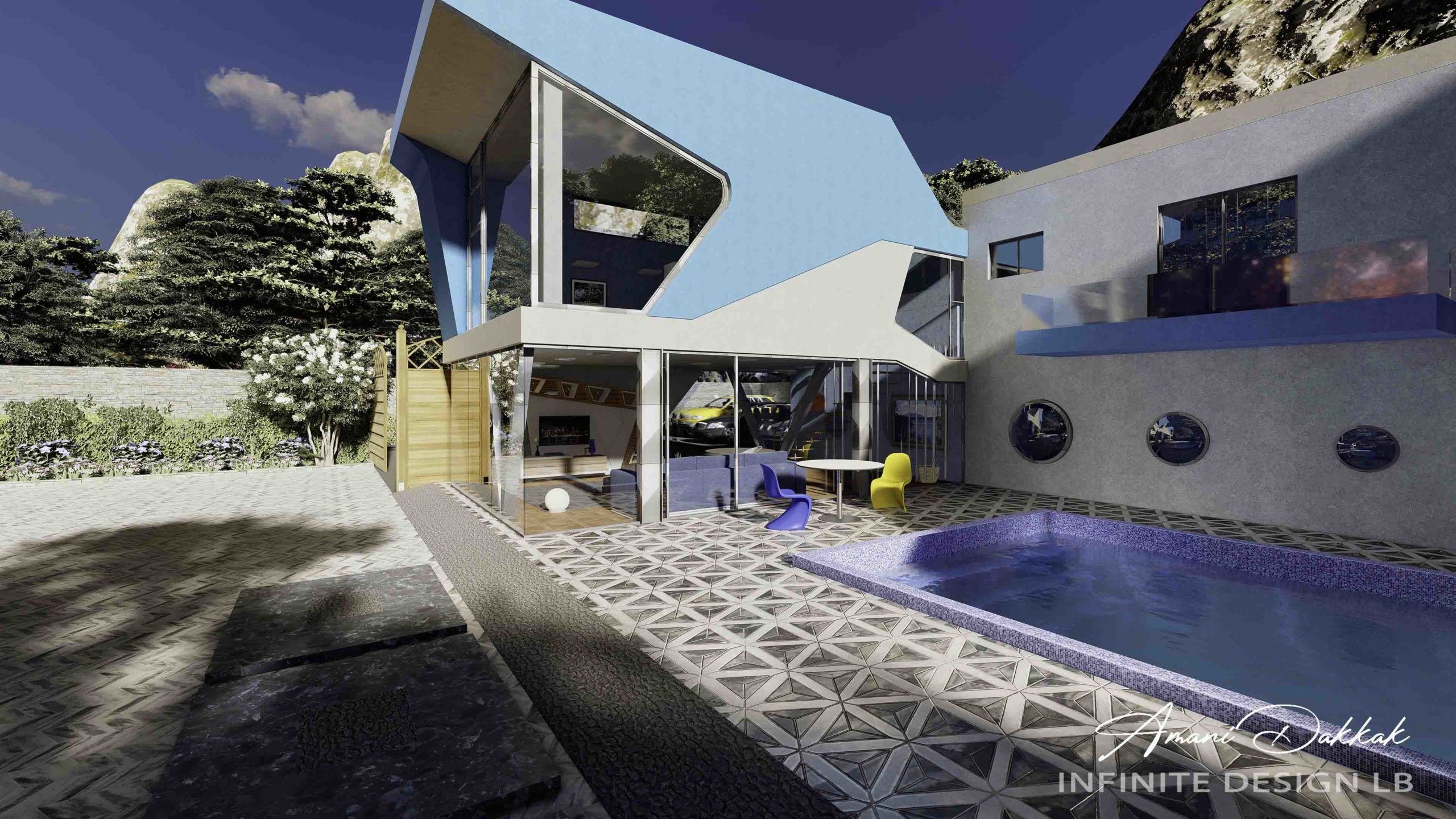 Mountain Villa Exterior Design | By Amani Dakkak