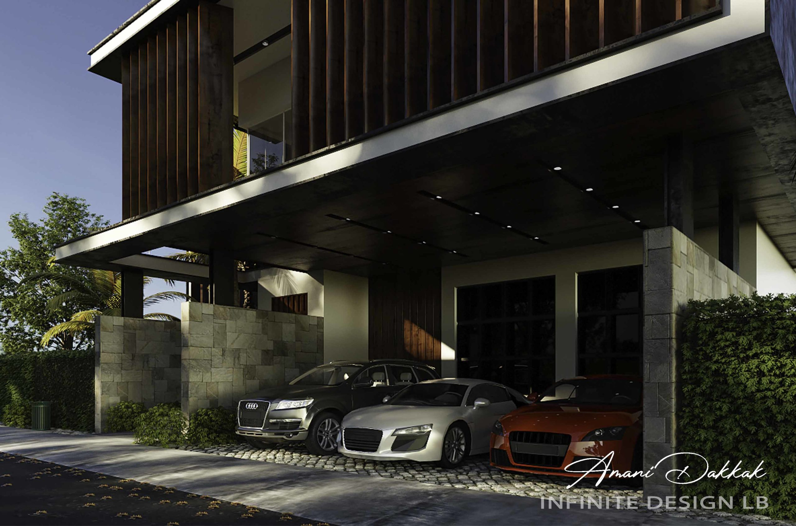 Modern Parking Exterior Design | Day View