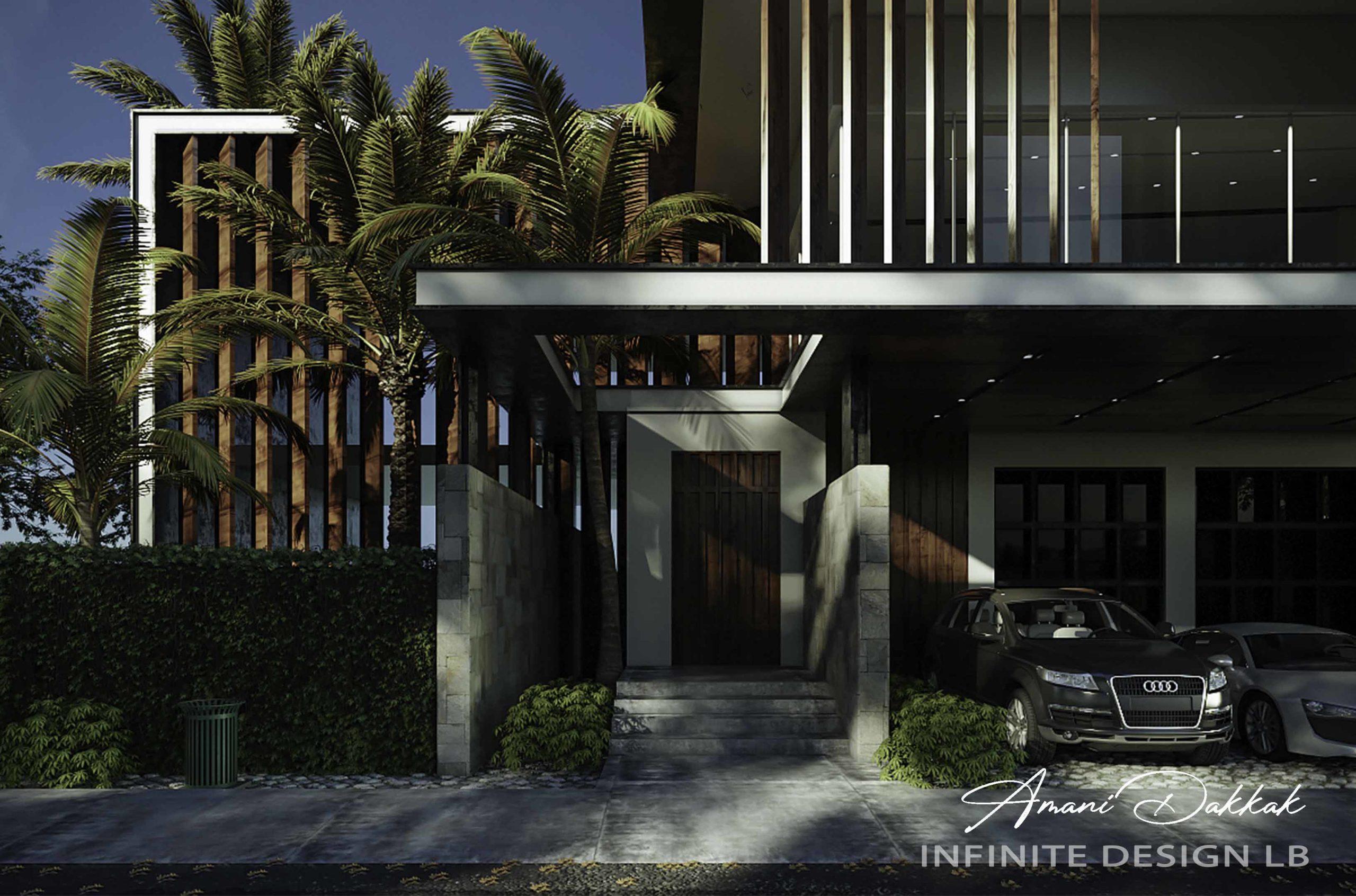 Modern Villa Entrance Exterior Design   Day View