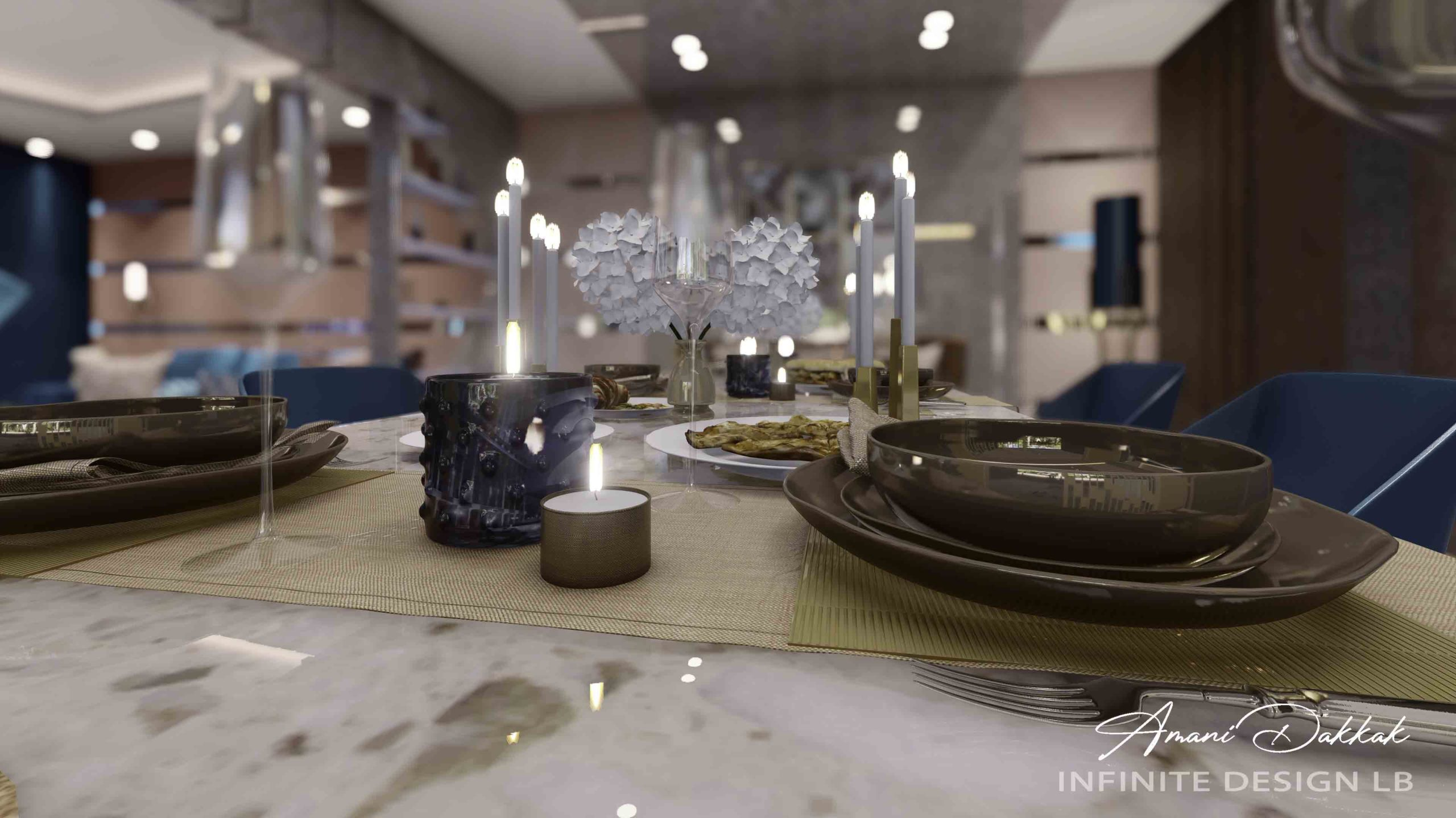 Modern Dining Table Decoration