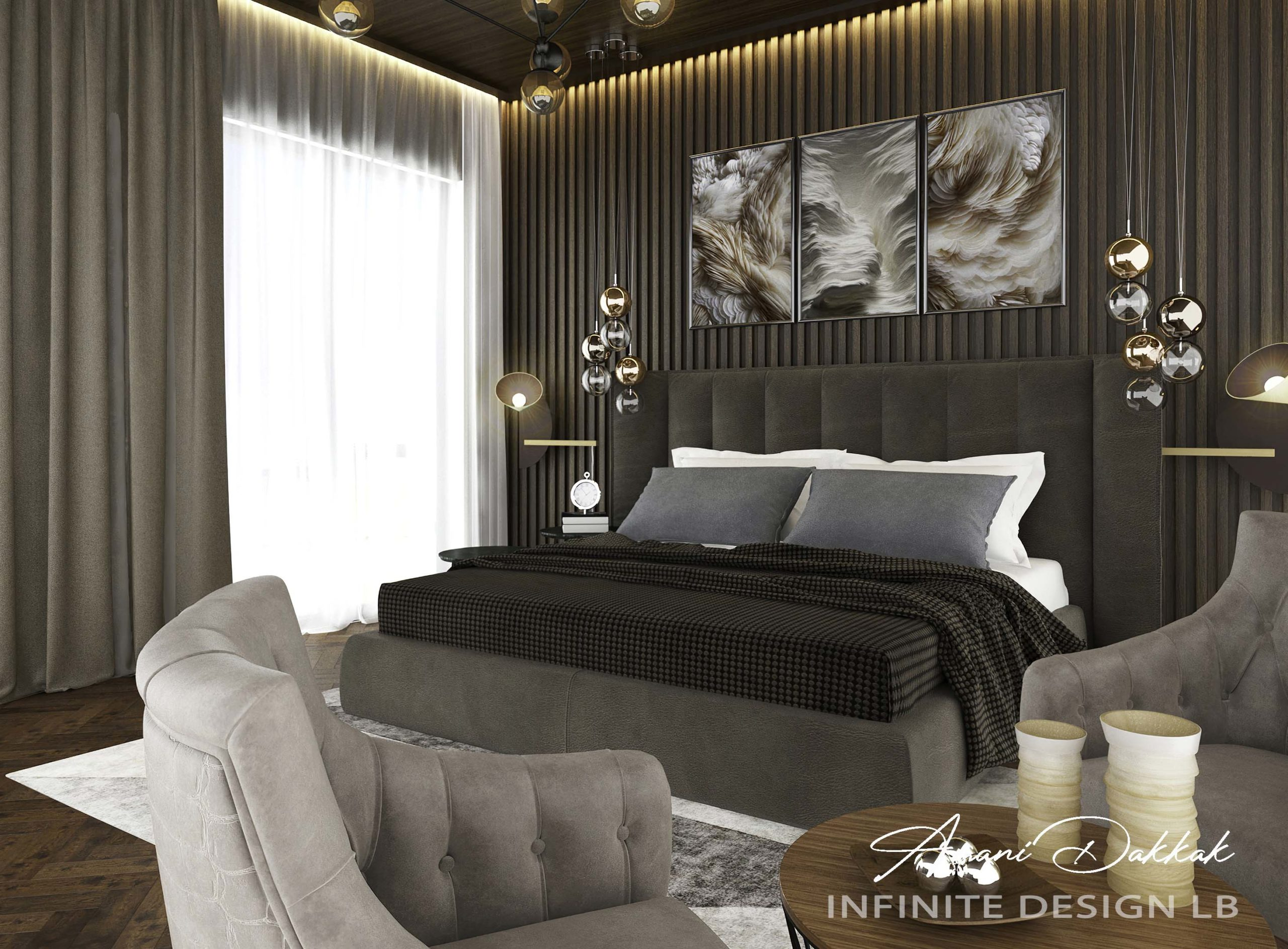 Luxury Hotel Bedroom Decoration Design | By Amani Dakkak