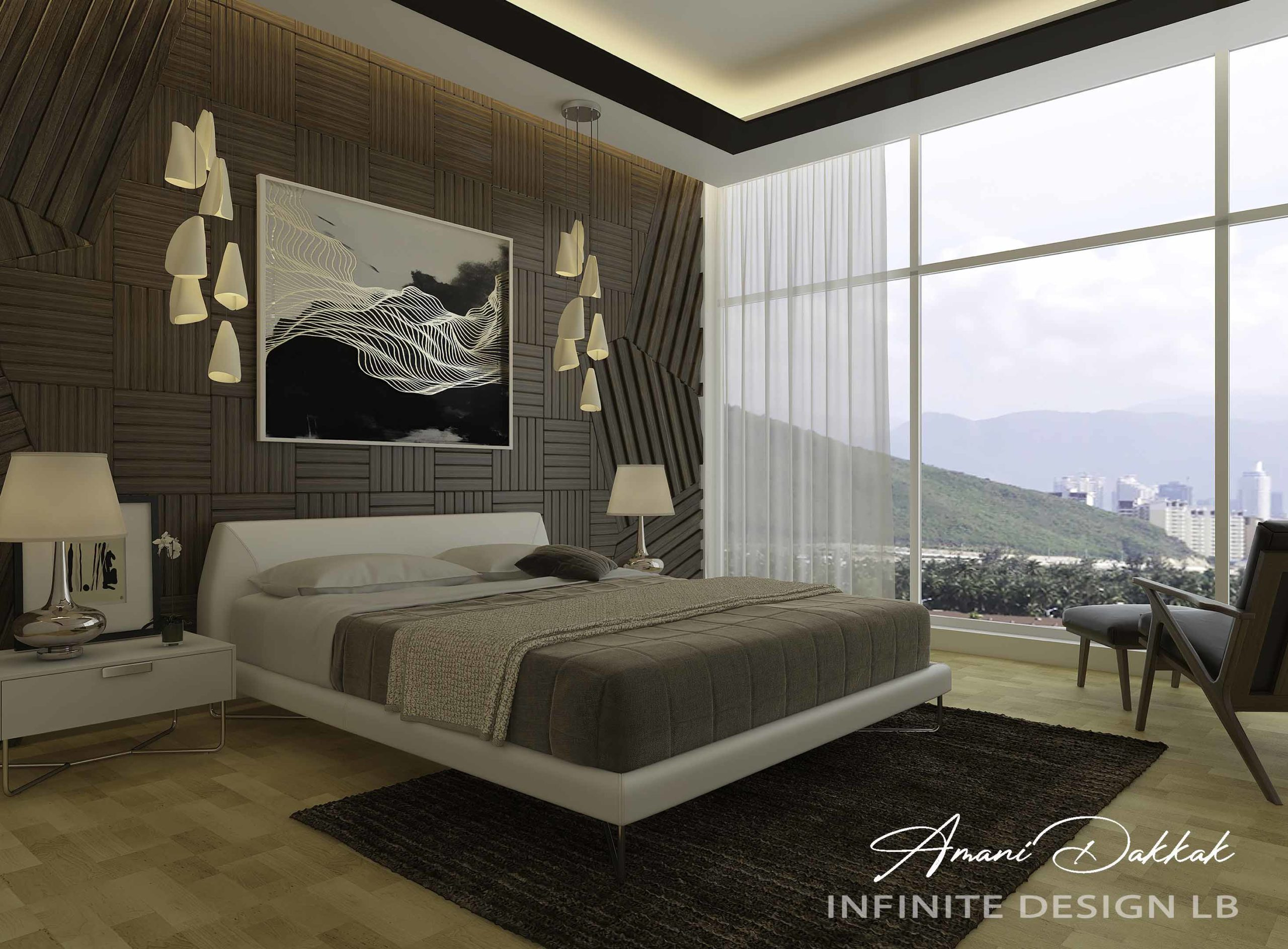 Luxury Hotel Bedroom Interior Design Decoration | By Amani Dakkak
